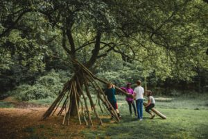 Nature Build at Abington Friends School