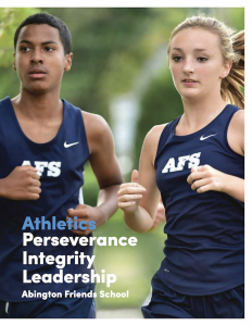 Publication about Athletics at AFS