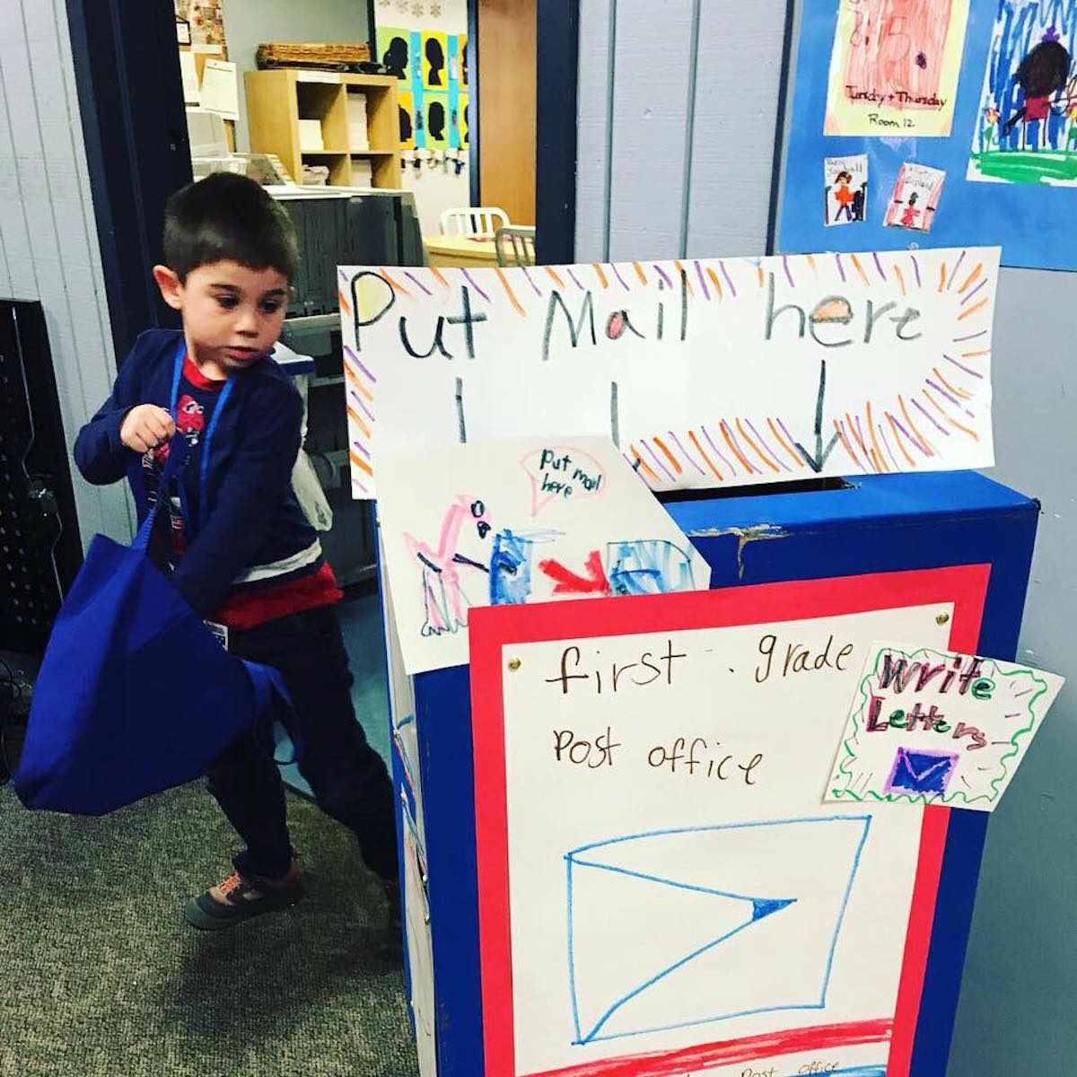 The First Grade Post Office Delivers Important Lessons | Abington