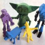 3D action figures middle school